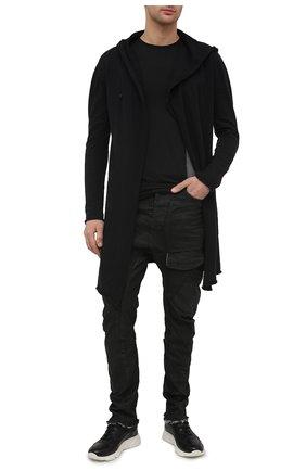 Мужские кожаные кроссовки MOMA черного цвета, арт. 4AS018-S0 | Фото 2
