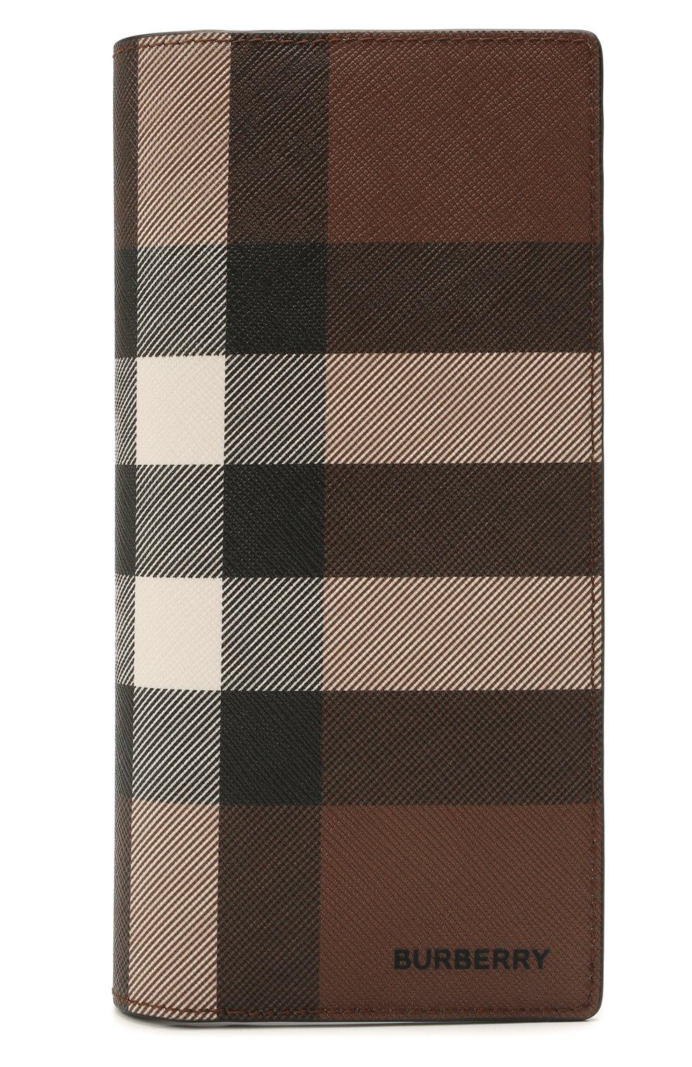 Мужской портмоне BURBERRY коричневого цвета, арт. 8036670 | Фото 1 (Материал: Экокожа)
