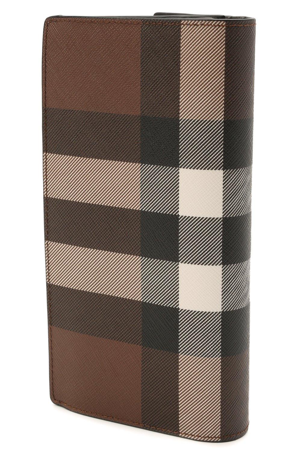 Мужской портмоне BURBERRY коричневого цвета, арт. 8036670 | Фото 2 (Материал: Экокожа)