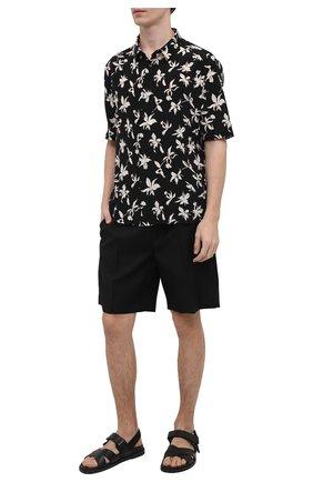 Мужская шелковая рубашка SAINT LAURENT черного цвета, арт. 601070/Y2C16 | Фото 2