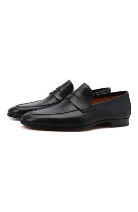 Мужские кожаные лоферы MAGNANNI черного цвета, арт. 23802/B0LTIARCADE | Фото 1 (Материал внутренний: Натуральная кожа; Мужское Кросс-КТ: Лоферы-обувь; Стили: Классический)