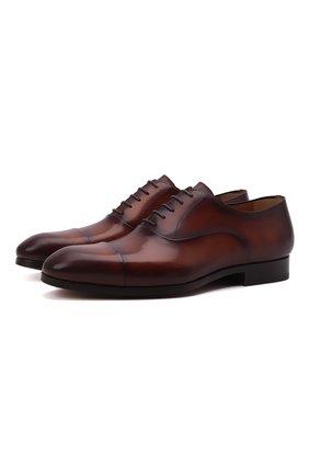 Мужские кожаные оксфорды MAGNANNI коричневого цвета, арт. 23803/WIND | Фото 1