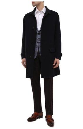 Мужские кожаные монки MAGNANNI коричневого цвета, арт. 23805/WIND | Фото 2