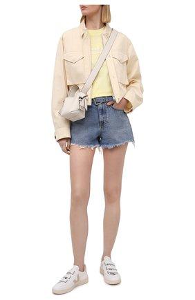 Женская хлопковая футболка ALEXANDER WANG желтого цвета, арт. UCC1211030   Фото 2