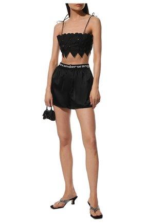 Женские шелковые шорты ALEXANDERWANG.T черного цвета, арт. 4WC2214077 | Фото 2