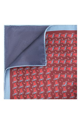 Мужской шелковый платок ZILLI красного цвета, арт. 51615/HANDKERCHIEF | Фото 1