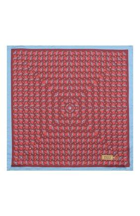 Мужской шелковый платок ZILLI красного цвета, арт. 51615/HANDKERCHIEF | Фото 3