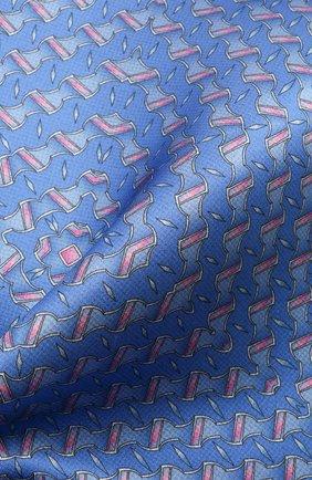Мужской шелковый платок ZILLI синего цвета, арт. 51615/HANDKERCHIEF | Фото 2