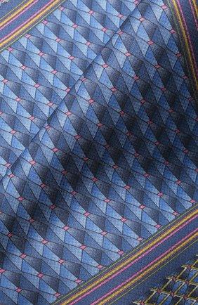 Мужской шелковый платок ZILLI темно-синего цвета, арт. 51612/HANDKERCHIEF | Фото 2