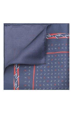 Мужской шелковый платок ZILLI темно-синего цвета, арт. 51609/HANDKERCHIEF | Фото 1