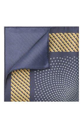 Мужской шелковый платок ZILLI синего цвета, арт. 51606/HANDKERCHIEF | Фото 1
