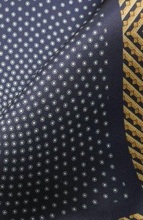 Мужской шелковый платок ZILLI синего цвета, арт. 51606/HANDKERCHIEF | Фото 2