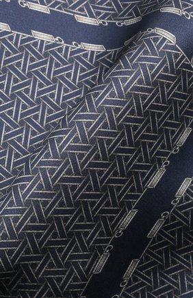 Мужской шелковый платок ZILLI синего цвета, арт. 51603/HANDKERCHIEF | Фото 2