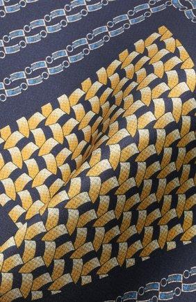 Мужской шелковый платок ZILLI синего цвета, арт. 51600/HANDKERCHIEF | Фото 2