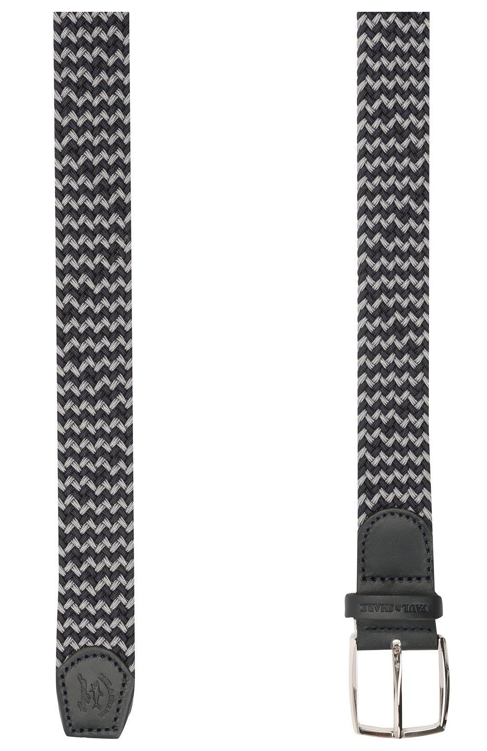Мужской комбинированный ремень PAUL&SHARK серого цвета, арт. 21416003/GSJ   Фото 2