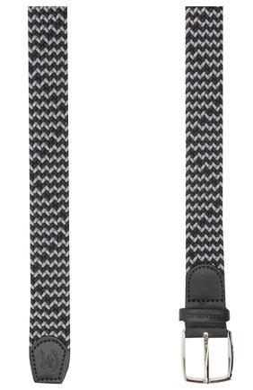 Мужской комбинированный ремень PAUL&SHARK серого цвета, арт. 21416003/GSJ | Фото 2