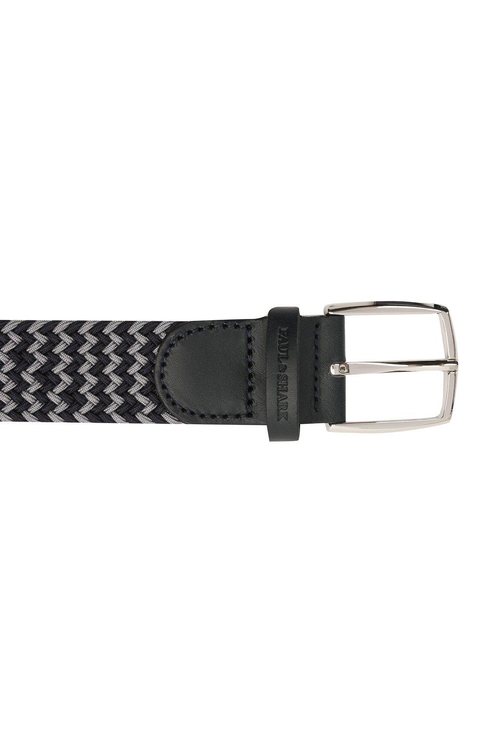 Мужской комбинированный ремень PAUL&SHARK серого цвета, арт. 21416003/GSJ   Фото 3