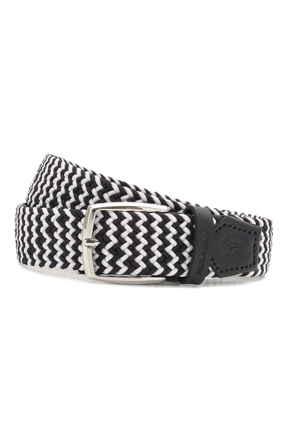 Мужской комбинированный ремень PAUL&SHARK черно-белого цвета, арт. 21416003/GSJ   Фото 1