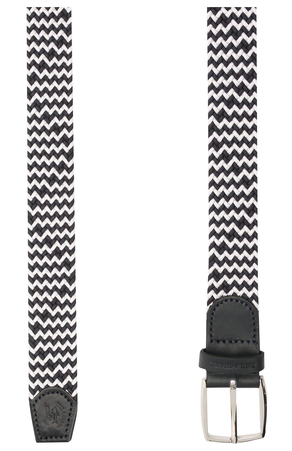 Мужской комбинированный ремень PAUL&SHARK черно-белого цвета, арт. 21416003/GSJ   Фото 2