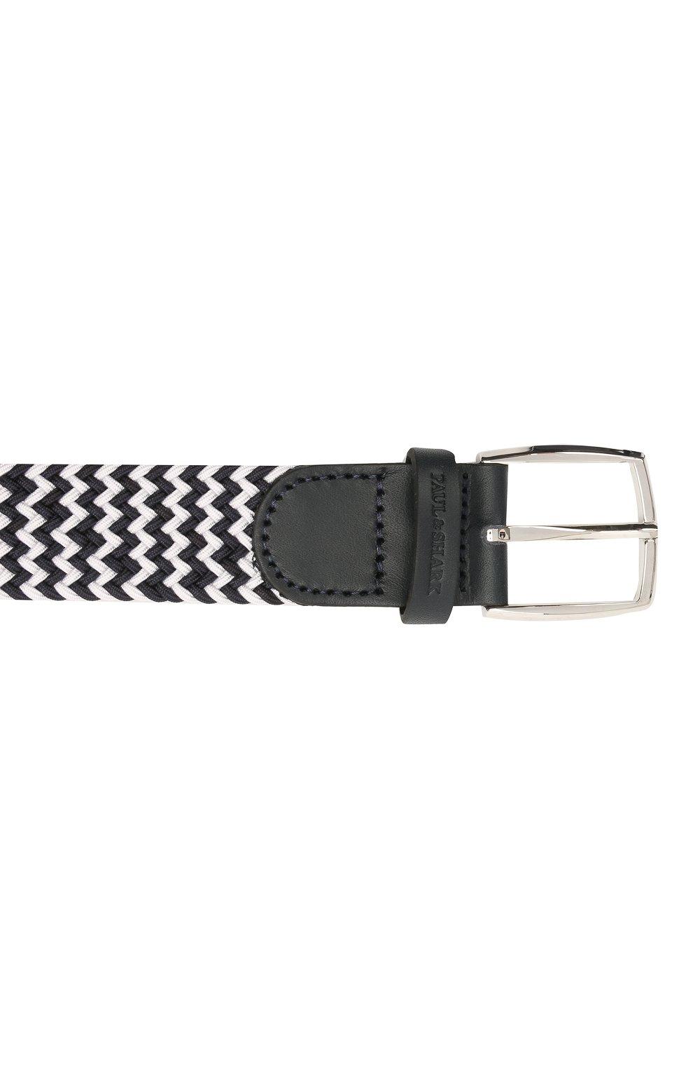 Мужской комбинированный ремень PAUL&SHARK черно-белого цвета, арт. 21416003/GSJ   Фото 3