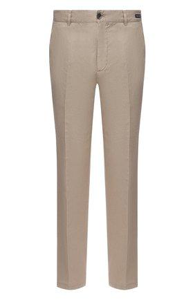 Мужские брюки из хлопка и льна PAUL&SHARK бежевого цвета, арт. 21414042/FJD | Фото 1