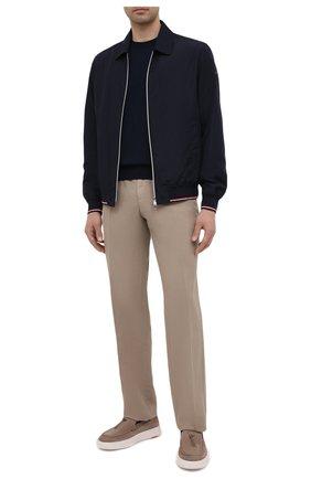 Мужские брюки из хлопка и льна PAUL&SHARK бежевого цвета, арт. 21414042/FJD | Фото 2
