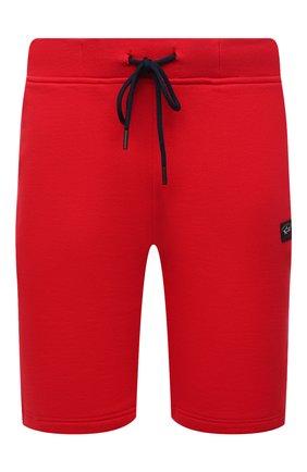 Мужские хлопковые шорты PAUL&SHARK красного цвета, арт. 21411936/C00 | Фото 1