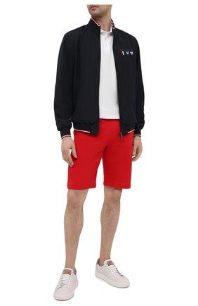 Мужские хлопковые шорты PAUL&SHARK красного цвета, арт. 21411936/C00 | Фото 2
