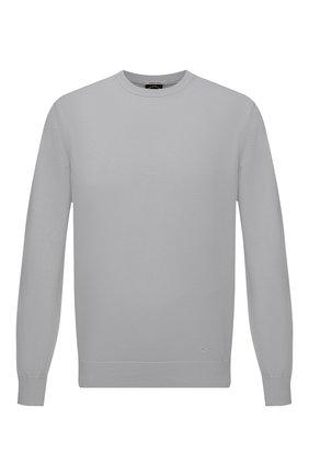 Мужской хлопковый свитер PAUL&SHARK серого цвета, арт. 21411550/C00 | Фото 1