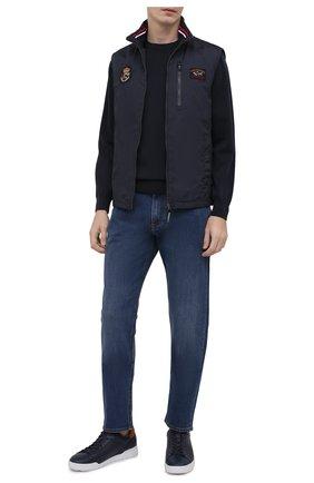 Мужской хлопковый свитер PAUL&SHARK темно-синего цвета, арт. 21411550/C00 | Фото 2