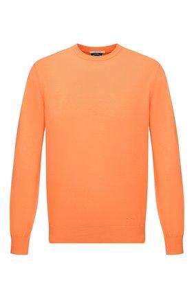 Мужской хлопковый свитер PAUL&SHARK оранжевого цвета, арт. 21411550/C00 | Фото 1