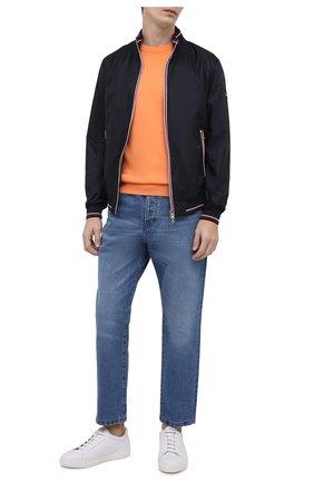 Мужской хлопковый свитер PAUL&SHARK оранжевого цвета, арт. 21411550/C00 | Фото 2