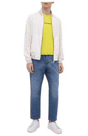Мужская хлопковая футболка PAUL&SHARK желтого цвета, арт. 21411051/C00 | Фото 2