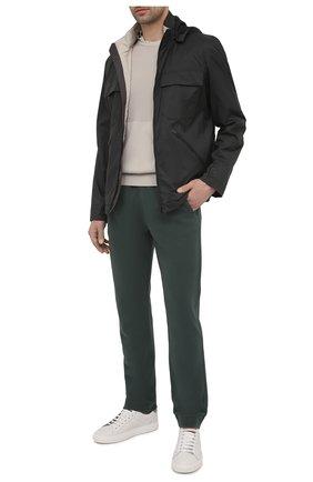 Мужские хлопковые брюки Z ZEGNA зеленого цвета, арт. VW429/ZZP55 | Фото 2