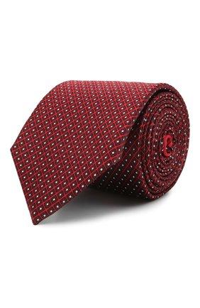 Мужской шелковый галстук ERMENEGILDO ZEGNA красного цвета, арт. Z9E23/100 | Фото 1