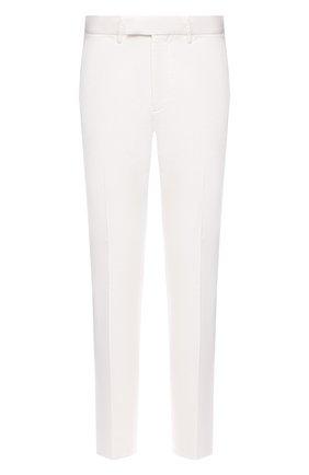 Мужские брюки из хлопка и льна ERMENEGILDO ZEGNA белого цвета, арт. UWI37/TR10 | Фото 1 (Длина (брюки, джинсы): Стандартные; Материал внешний: Хлопок; Случай: Повседневный; Стили: Кэжуэл; Силуэт М (брюки): Чиносы)