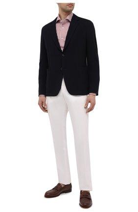Мужские брюки из хлопка и льна ERMENEGILDO ZEGNA белого цвета, арт. UWI37/TR10 | Фото 2 (Длина (брюки, джинсы): Стандартные; Материал внешний: Хлопок; Случай: Повседневный; Стили: Кэжуэл; Силуэт М (брюки): Чиносы)