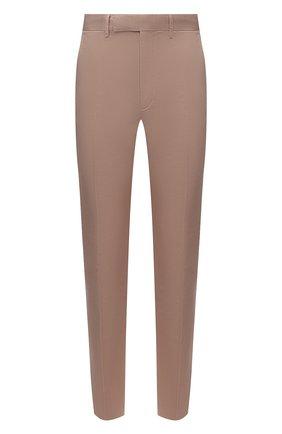 Мужские брюки из хлопка и льна ERMENEGILDO ZEGNA бежевого цвета, арт. UWI37/TR10 | Фото 1