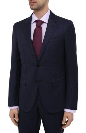 Мужской шерстяной костюм ERMENEGILDO ZEGNA темно-синего цвета, арт. 922020/25M22Y | Фото 2