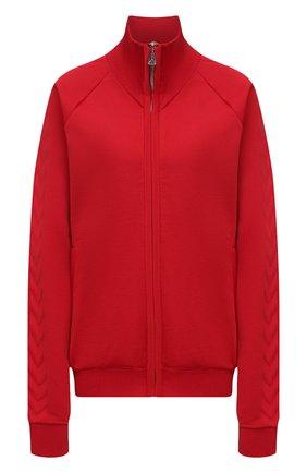 Женский кардиган BOTTEGA VENETA красного цвета, арт. 647513/V0C10   Фото 1 (Материал внешний: Вискоза, Синтетический материал; Рукава: Длинные; Длина (для топов): Стандартные; Женское Кросс-КТ: Кардиган-одежда; Стили: Спорт-шик)
