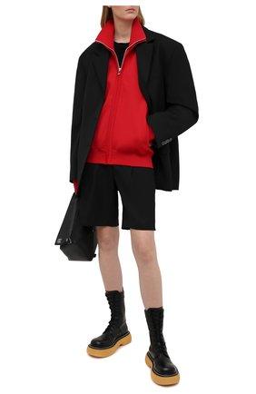 Женский кардиган BOTTEGA VENETA красного цвета, арт. 647513/V0C10   Фото 2 (Материал внешний: Вискоза, Синтетический материал; Рукава: Длинные; Длина (для топов): Стандартные; Женское Кросс-КТ: Кардиган-одежда; Стили: Спорт-шик)