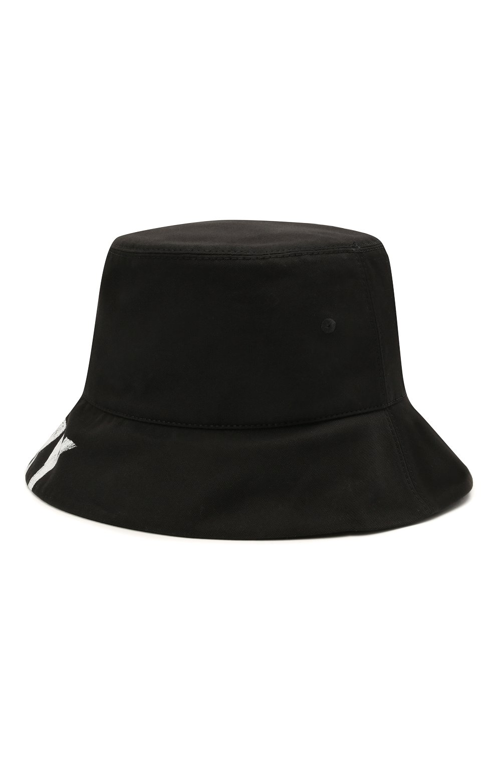 Женская хлопковая панама BURBERRY черного цвета, арт. 8037597   Фото 2