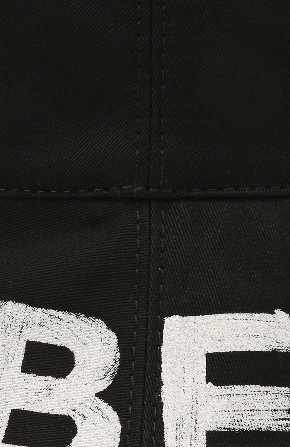 Женская хлопковая панама BURBERRY черного цвета, арт. 8037597   Фото 3