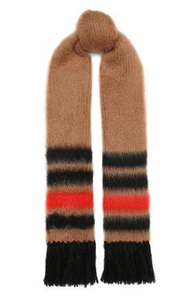 Женский шарф BURBERRY бежевого цвета, арт. 8037078   Фото 1