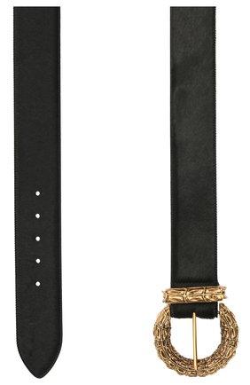Женский кожаный ремень SAINT LAURENT черного цвета, арт. 650347/C7AMW | Фото 2 (Материал: Кожа)