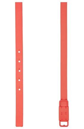 Женский кожаный ремень LORO PIANA кораллового цвета, арт. FAL6512   Фото 2 (Материал: Кожа; Кросс-КТ: Тонкие)
