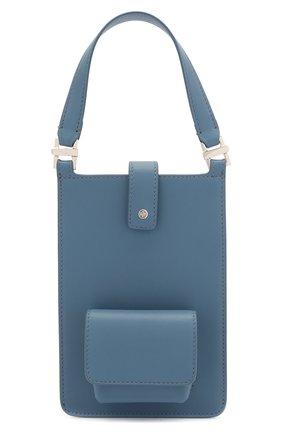 Кожаный чехол для телефона LORO PIANA голубого цвета, арт. FAL6471 | Фото 1
