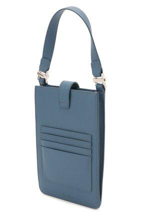 Кожаный чехол для телефона LORO PIANA голубого цвета, арт. FAL6471 | Фото 2
