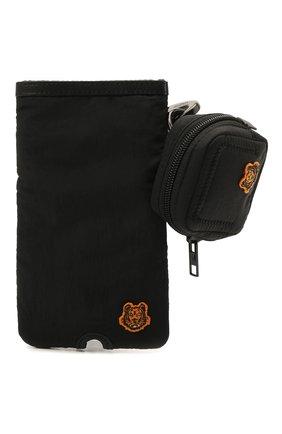 Комплект: чехол для телефона + чехол для наушников KENZO черного цвета, арт. FB55PM408F24 | Фото 1