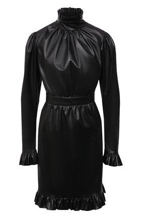 Женское платье из экокожи MASTERPEACE черного цвета, арт. MP-ECO21-02 | Фото 1
